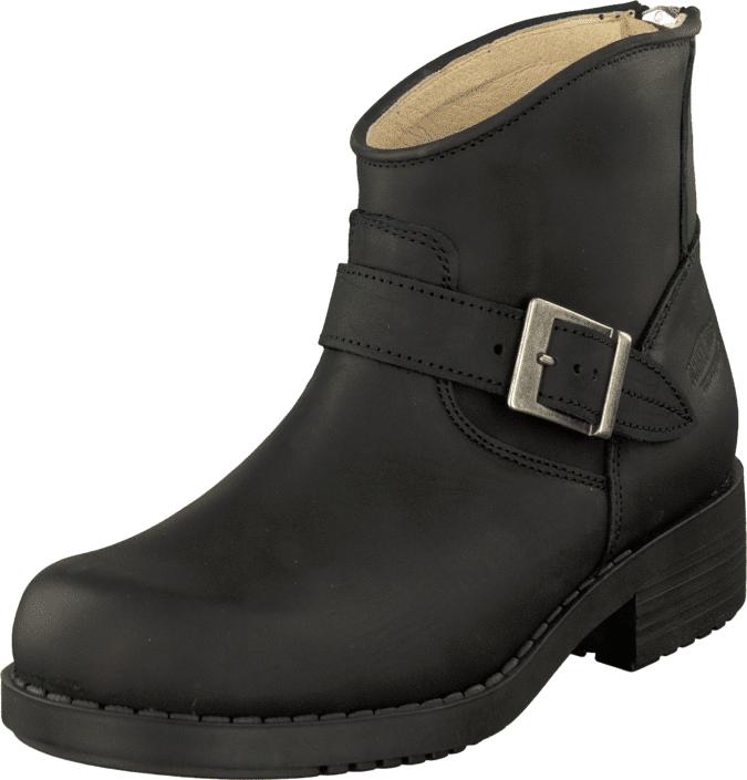 Johnny Bulls Very Low Boot Zip Back Black/Silver, Kengät, Bootsit, Chelsea boots, Musta, Naiset, 35