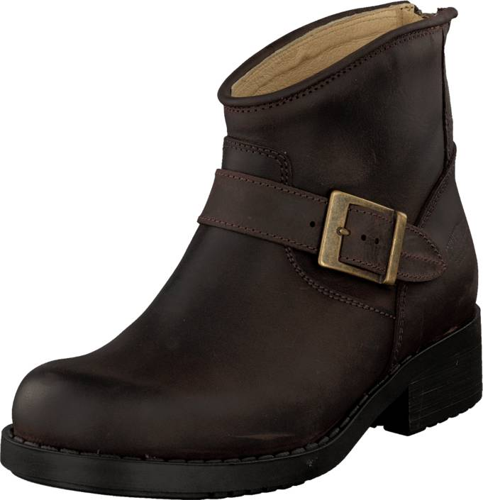Johnny Bulls Very Low Boot Zip Back Brown/Gold, Kengät, Bootsit, Chelsea boots, Ruskea, Naiset, 36