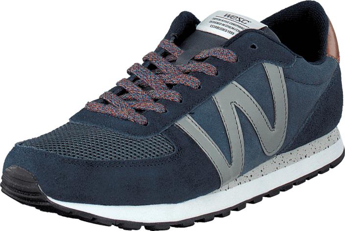 WeSC Post Runner Dark Sapphire, Kengät, Sneakerit ja urheilukengät, Sneakerit, Harmaa, Sininen, Unisex, 42