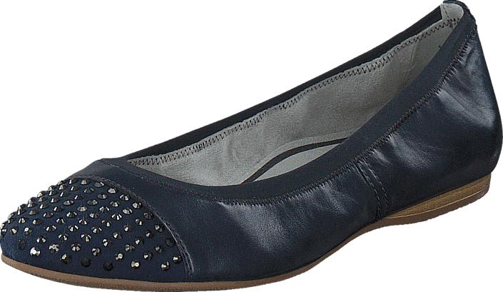 Tamaris 1-1-22124-26 805 Navy, Kengät, Matalapohjaiset kengät, Ballerinat, Sininen, Naiset, 36