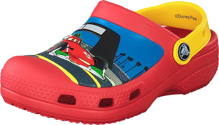 Crocs CC McQueen & Francesco Clog Flame/Yellow, Kengät, Sandaalit ja tohvelit, Crocsit, Sininen, Punainen, Unisex, 19