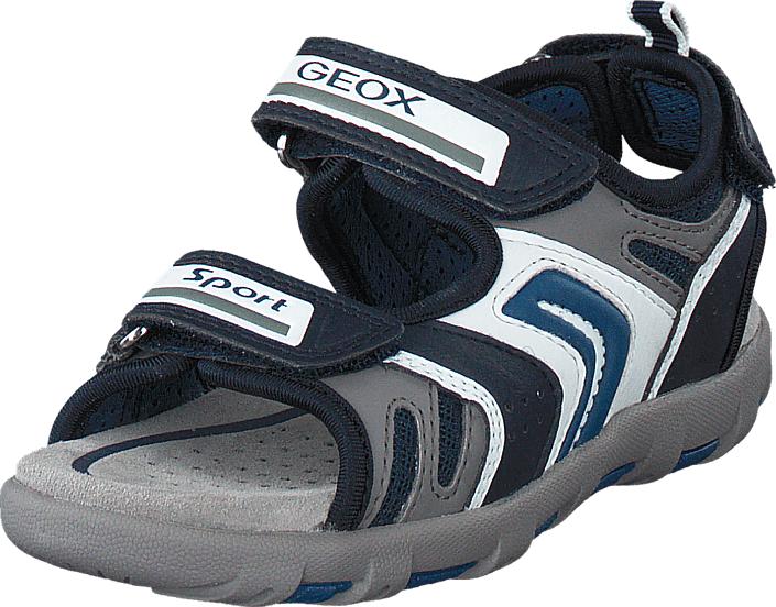 Geox Sandal Pianeta Boy Navy/Avio, Kengät, Sandaalit ja tohvelit, Sporttisandaalit, Harmaa, Sininen, Unisex, 24