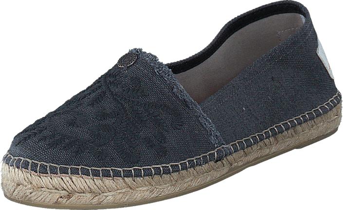 Odd Molly Oddspadrillos Embroidered Grey, Kengät, Matalapohjaiset kengät, Slip on, Sininen, Harmaa, Naiset, 36