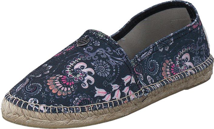 Odd Molly Oddspadrillos Printed Asphalt, Kengät, Matalapohjaiset kengät, Slip on, Harmaa, Kuvioitu, Naiset, 37