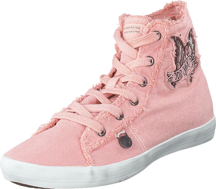 Odd Molly Butterfly High Sneaker Milky Pink, Kengät, Sneakerit ja urheilukengät, Korkeavartiset tennarit, Violetti, Vaaleanpunainen, Naiset, 36