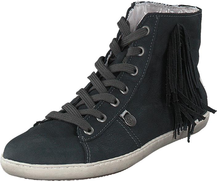 Odd Molly High Five High Sneaker Asphalt, Kengät, Sneakerit ja urheilukengät, Korkeavartiset tennarit, Harmaa, Musta, Naiset, 36