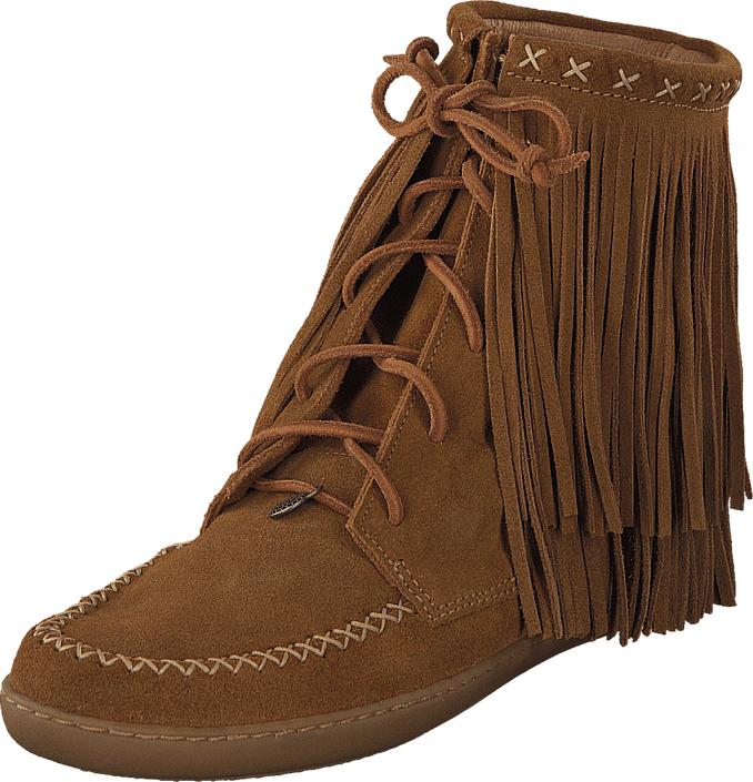 Odd Molly Walkabout Low Mocassin Brown, Kengät, Bootsit, Korkeavartiset bootsit, Ruskea, Naiset, 36