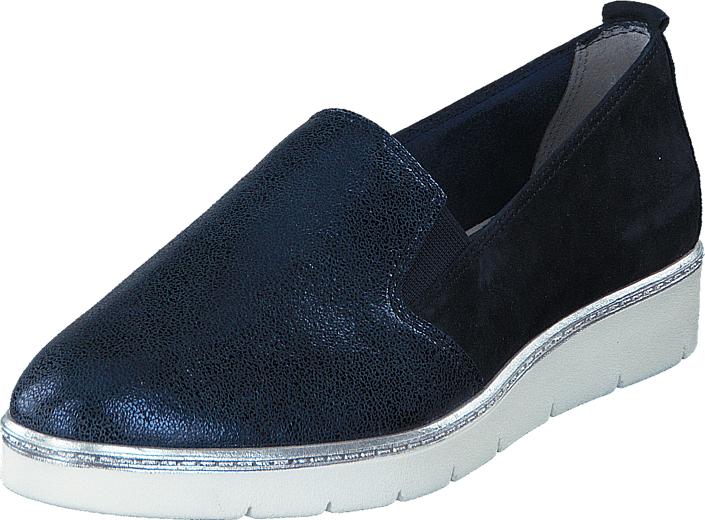 Tamaris 1-1-24306-28 890 Navy Comb, Kengät, Matalapohjaiset kengät, Slip on, Sininen, Musta, Naiset, 41