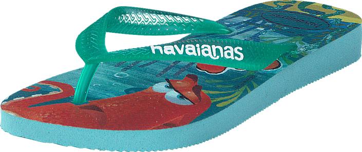 Havaianas Kids Nemo E Dory Ice Blue, Kengät, Sandaalit ja tohvelit, Flip Flopit, Harmaa, Punainen, Turkoosi, Unisex, 29