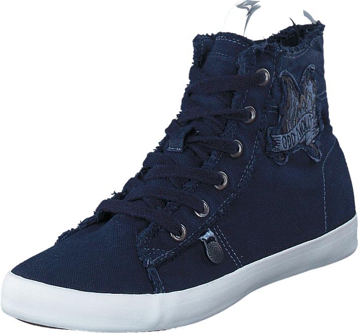 Odd Molly Butterfly High Sneakers Dark Blue, Kengät, Sneakerit ja urheilukengät, Korkeavartiset tennarit, Sininen, Naiset, 36