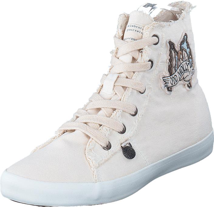 Odd Molly Butterfly High Sneakers Shell, Kengät, Sneakerit ja urheilukengät, Korkeavartiset tennarit, Harmaa, Naiset, 36