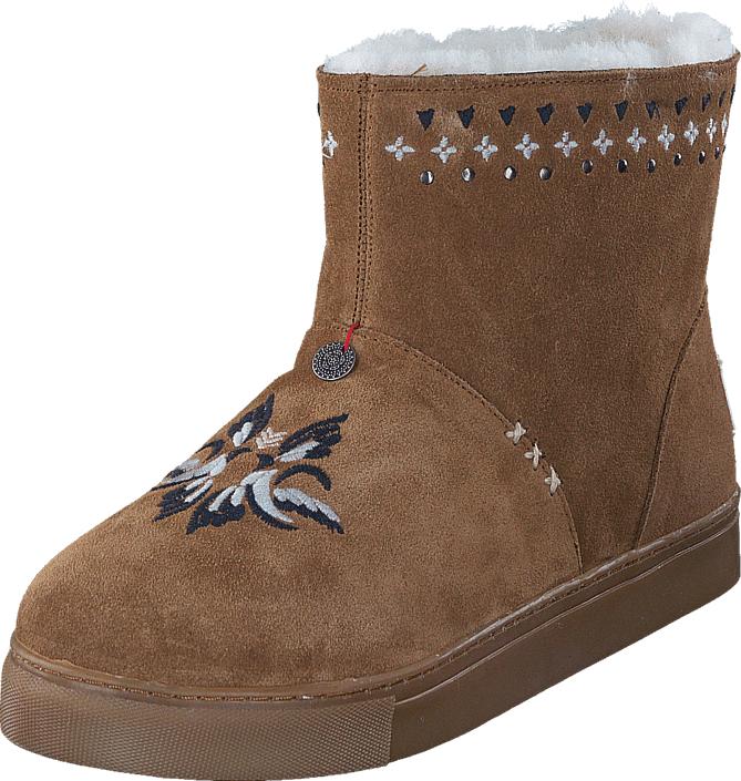 Odd Molly Suedey Low Boot Desert, Kengät, Bootsit, Talvisaappaat, Ruskea, Naiset, 37
