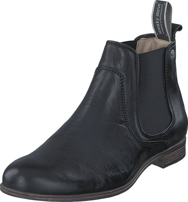 Sneaky Steve Cumberland Black Eco, Kengät, Bootsit, Chelsea boots, Musta, Miehet, 45