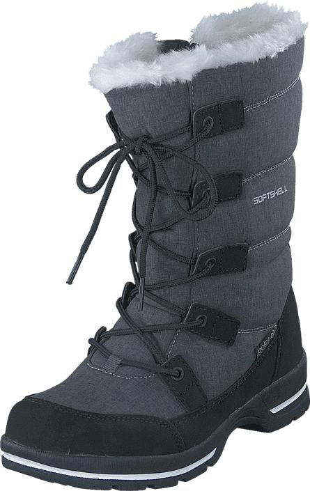 Polecat 430-3907 Waterproof Warm Lined Grey, Kengät, Bootsit, Lämminvuoriset kengät, Violetti, Harmaa, Naiset, 36