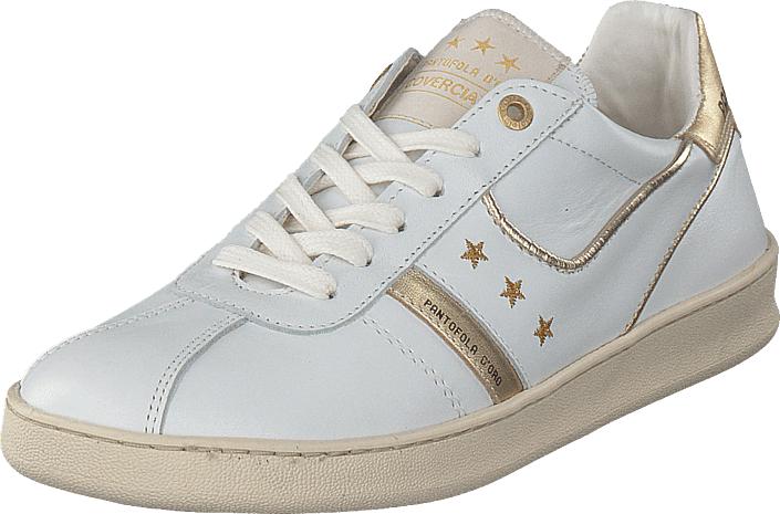 Image of Pantofola D'oro Covericiano Donne Low Bright White, Kengät, Sneakerit ja urheilukengät, Sneakerit, Valkoinen, Naiset, 37