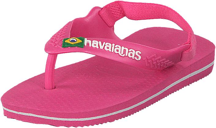 Havaianas Baby Brasil Logo Ii Shocking Pink, Kengät, Sandaalit ja tohvelit, Flip Flopit, Vaaleanpunainen, Unisex, 21