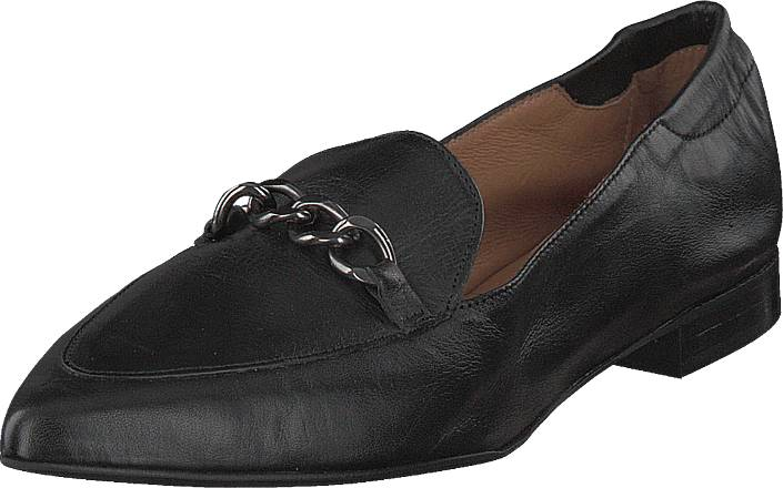 Image of Bianco Dress Chain Loafer Black, Kengät, Matalapohjaiset kengät, Loaferit, Musta, Naiset, 36