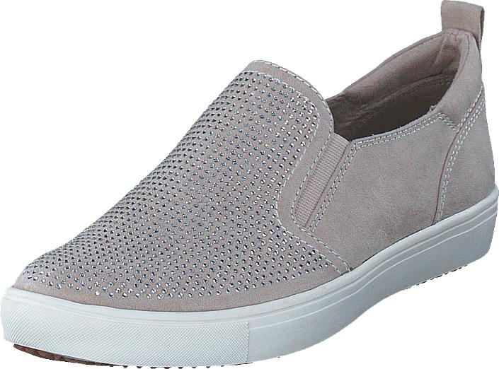 Tamaris 24609-418 Ivory, Kengät, Matalapohjaiset kengät, Slip on, Harmaa, Naiset, 36
