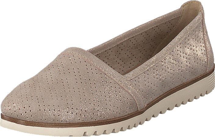 Tamaris 24613-405 Beige Metallic, Kengät, Matalapohjaiset kengät, Loaferit, Ruskea, Naiset, 37