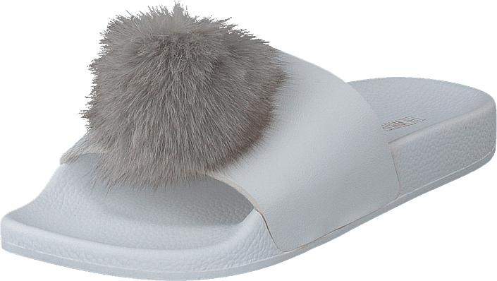 The White Brand Pompon Grey, Kengät, Sandaalit ja tohvelit, Sandaalit, Sininen, Harmaa, Naiset, 37