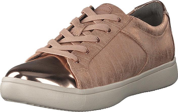 Rockport Ariell Lace To Toe Rose Gold, Kengät, Matalapohjaiset kengät, Kävelykengät, Ruskea, Beige, Naiset, 35
