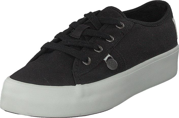 Odd Molly Pedestrian Sneaker Almost Black, Kengät, Matalapohjaiset kengät, Kangaskengät, Musta, Naiset, 36