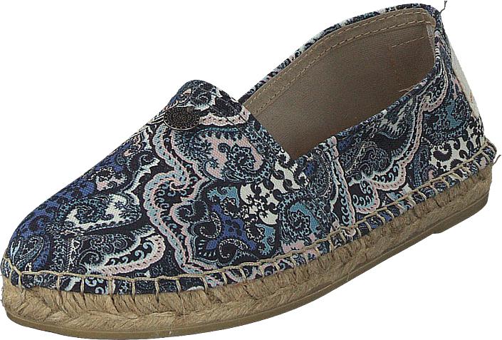 Odd Molly Oddspadrillos Print Blue, Kengät, Matalapohjaiset kengät, Slip on, Harmaa, Ruskea, Violetti, Naiset, 36