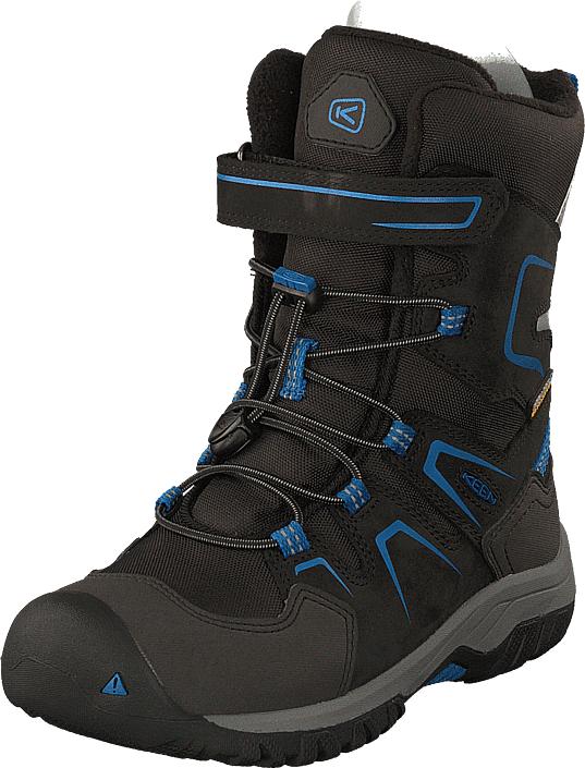 Keen Levo Winter Wp Black/baleine Blue, Kengät, Bootsit, Lämminvuoriset kengät, Musta, Unisex, 24