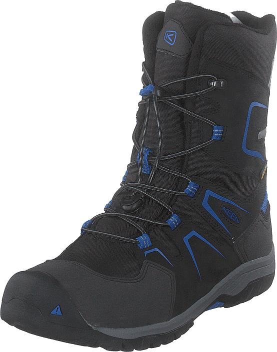 Keen Levo Winter Wp Black/baleine Blue, Kengät, Bootsit, Korkeavartiset bootsit, Musta, Unisex, 34