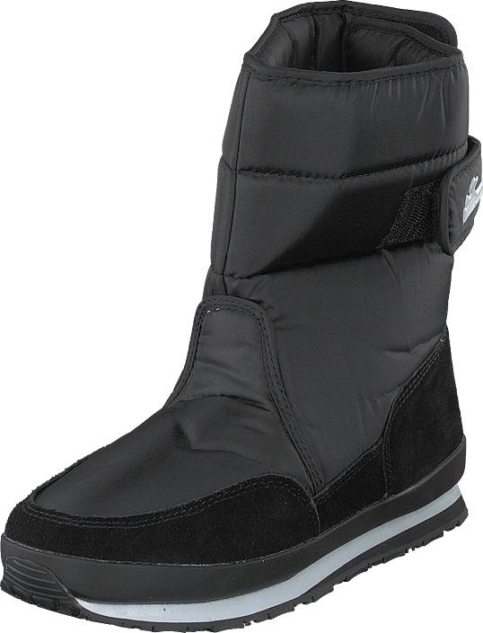 Rubber Duck Rd Nylon Suede Solid Black, Kengät, Bootsit, Lämminvuoriset kengät, Musta, Naiset, 39