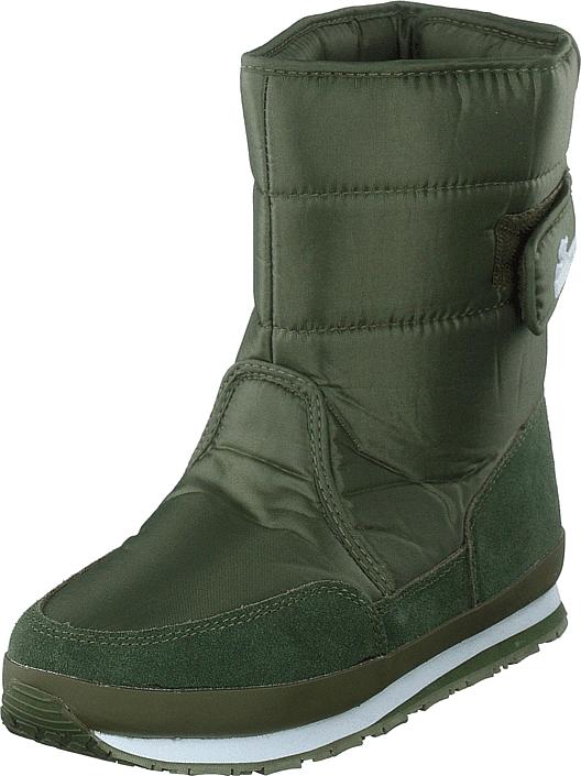 Rubber Duck Rd Nylon Suede Solid Khaki, Kengät, Bootsit, Lämminvuoriset kengät, Vihreä, Naiset, 37