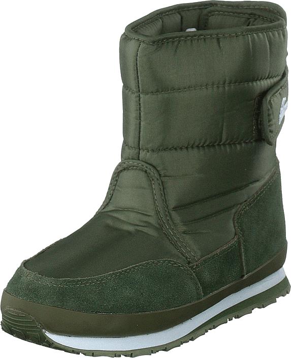 Rubber Duck Rd Nylon Suede Solid Kids Khaki, Kengät, Bootsit, Lämminvuoriset kengät, Vihreä, Unisex, 28