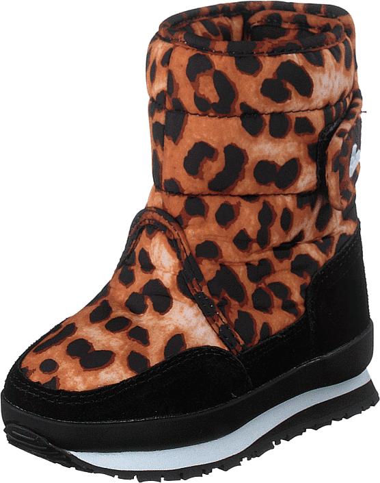 Rubber Duck Rd Print Kids Wild Animal, Kengät, Bootsit, Lämminvuoriset kengät, Musta, Punainen, Unisex, 25