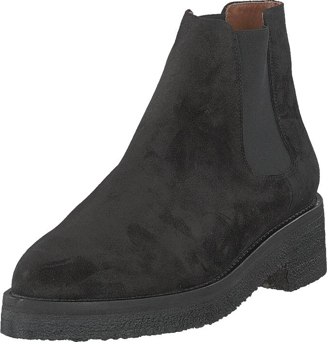 Whyred Lynna Suede Black, Kengät, Bootsit, Chelsea boots, Musta, Naiset, 40