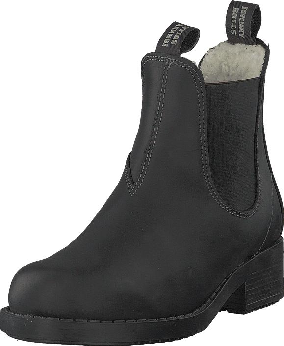 Johnny Bulls Low Chelsea Warm Lining Black, Kengät, Bootsit, Chelsea boots, Musta, Naiset, 35