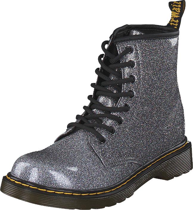 Dr Martens 1460 Glitter J Gunmetal, Kengät, Bootsit, Kengät, Violetti, Unisex, 32