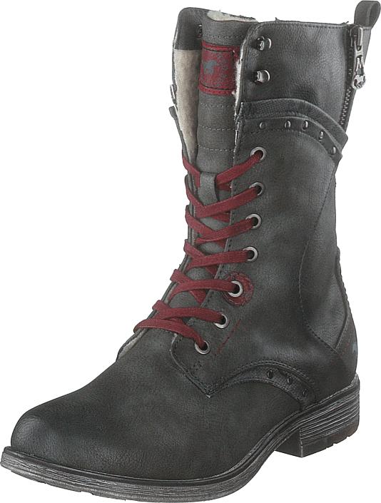 Mustang Stiefelette Dunkelgrau, Kengät, Bootsit, Korkeavartiset bootsit, Harmaa, Naiset, 41
