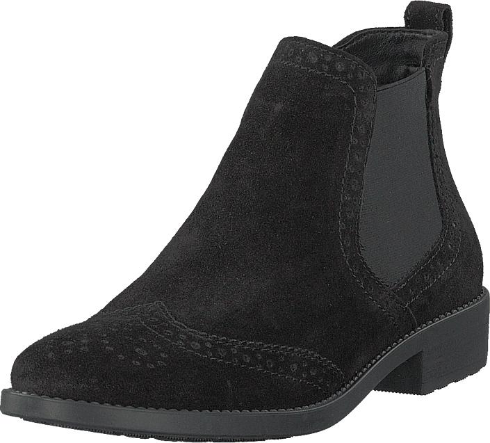 Tamaris 1-1-25493-21 001 Black, Kengät, Bootsit, Chelsea boots, Musta, Naiset, 40