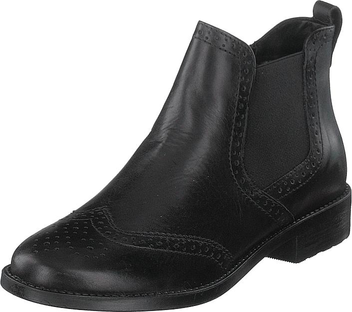 Tamaris 1-1-25493-21 003 Black, Kengät, Bootsit, Chelsea boots, Musta, Naiset, 42