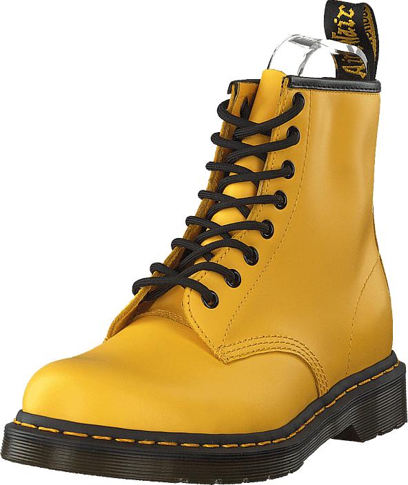 Dr Martens 1460 Yellow, Kengät, Saappaat ja saapikkaat, Kumisaappaat, Keltainen, Naiset, 38
