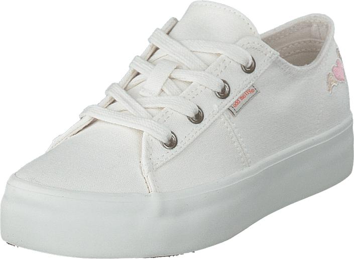 Odd Molly Pedestrian Sneaker Bright White, Kengät, Sneakerit ja urheilukengät, Varrettomat tennarit, Valkoinen, Naiset, 36