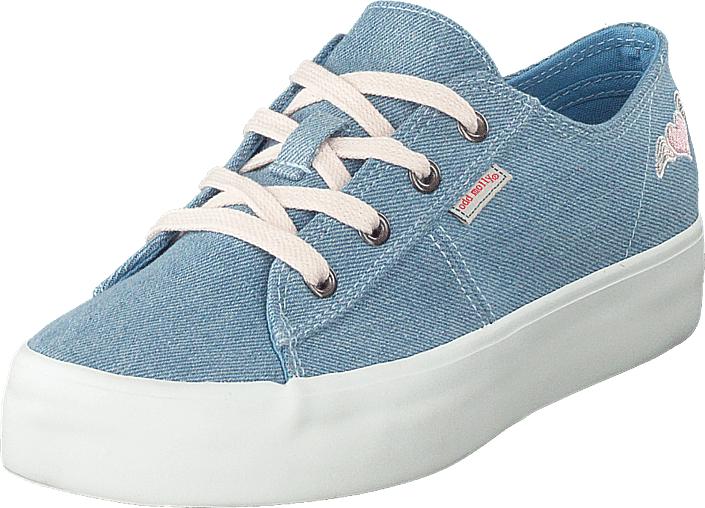 Odd Molly Pedestrian Sneaker Light Denim, Kengät, Matalapohjaiset kengät, Kangaskengät, Sininen, Turkoosi, Naiset, 38