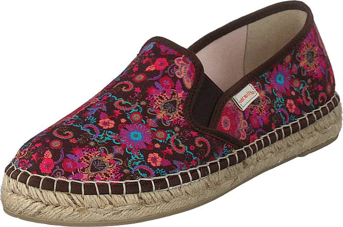 Odd Molly Vibrant Walker Espadrillo Dark Brown, Kengät, Matalapohjaiset kengät, Slip on, Beige, Ruskea, Naiset, 39