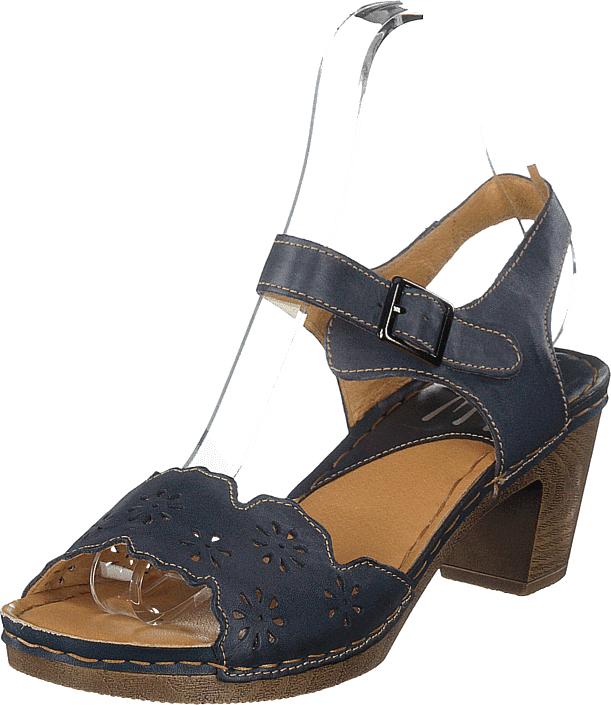 Wildflower Luciana Navy/blue, Kengät, Korkokengät, Matalakorkoiset Sandaletit, Ruskea, Sininen, Naiset, 40