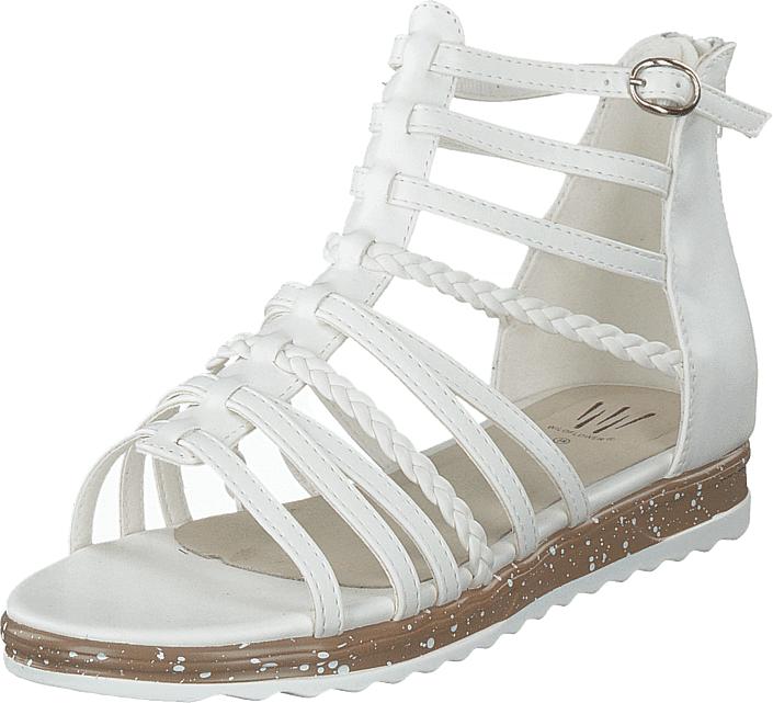 Wildflower Adinda White, Kengät, Sandaalit ja tohvelit, Gladiaattorisandaalit, Valkoinen, Unisex, 31