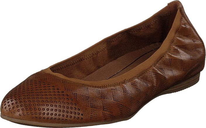 Tamaris 1-1-22134-22 305 Cognac, Kengät, Matalapohjaiset kengät, Ballerinat, Ruskea, Naiset, 39