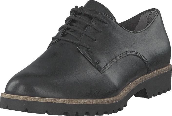 Tamaris 1-1-23208-22 003 Black Leather, Kengät, Matalapohjaiset kengät, Juhlakengät, Harmaa, Naiset, 41