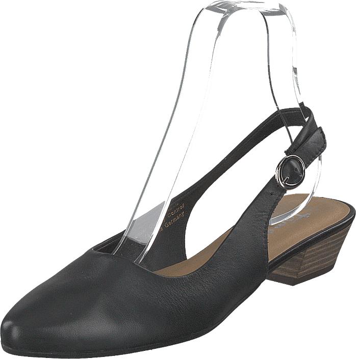 Tamaris 1-1-29400-22 003 Black Leather, Kengät, Sandaalit ja tohvelit, Remmisandaalit, Harmaa, Naiset, 39