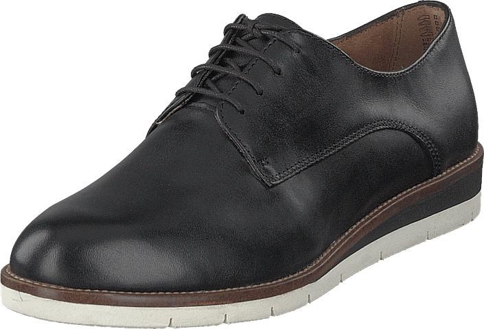 Tamaris 1-1-23202-22 035 Blk Leather/ Plain, Kengät, Matalapohjaiset kengät, Juhlakengät, Harmaa, Naiset, 38