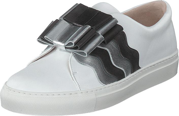 Image of Minna Parikka Arco Black-silver, Kengät, Matalapohjaiset kengät, Juhlakengät, Harmaa, Valkoinen, Naiset, 39